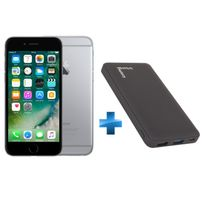 iPhone 6 - 64 Go - Gris Sidéral - Reconditionné + Batterie de secours Fast Charge 10 000 mAh - Noir