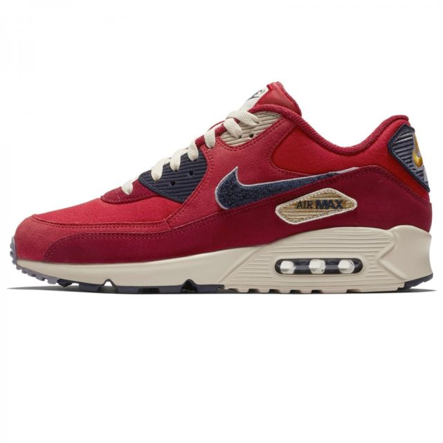 the latest 289b9 dbd51 Nike - Basket mode Air Max 90 Premium Se - 858954600 Rouge - 45 - pas cher  Achat   Vente Baskets homme - RueDuCommerce