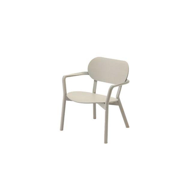Karimoku New Standard Chaise Castor Low - Chêne gris grainé
