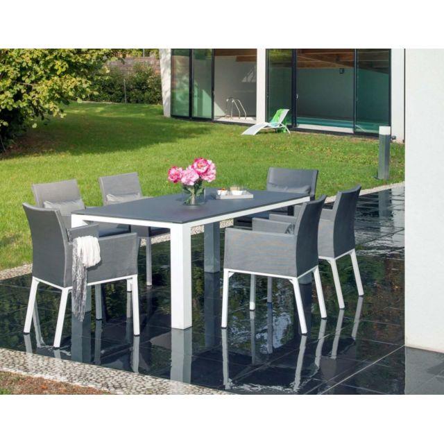 PROLOISIRS - Salon de jardin confortable 6 fauteuils Oslo - pas cher ...