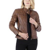 Vêtements femme Blousons Superdry Silka Biker Marron Achat