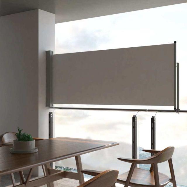Vidaxl Auvent latéral rétractable de patio 100 x 300 cm Gris