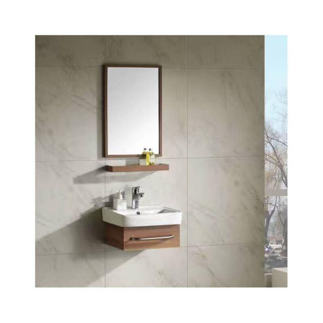 Rue du bain ensemble meuble de salle de bain gain de place bois 44x36 cm id pas cher - Meuble salle de bain rue du commerce ...