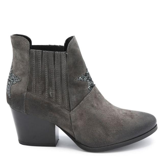 Semerdjian Boots étoile devant Gris foncÉ pas cher Achat