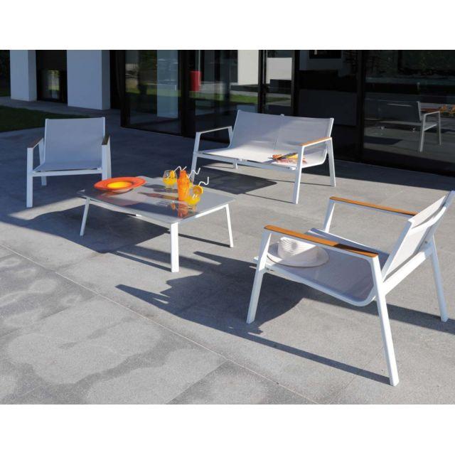 PROLOISIRS - Salon de jardin en aluminium Venus 4 personnes ...