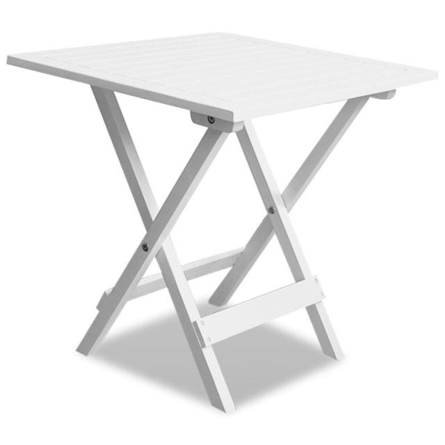 VIDAXL Table basse d'extérieur Bois d'acacia Blanc
