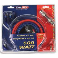 Caliber - Kit de cablage 10mm2 pour amplificateur superieur 500W - Cpk-10D