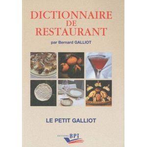 Bpi - dictionaire de restaurant édition 2011
