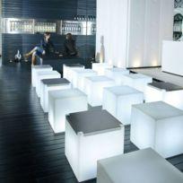 Slide - Cubo - Cube lumineux d'extérieur Blanc H40cm