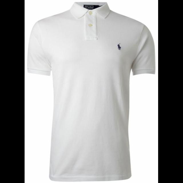 Ralph Lauren - Polo Custom-fit Blanc Poney Noir Taille M - pas cher ... 19a07972087c