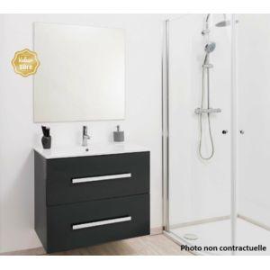 Aqua colonne salle de bain gris anthracite suspendre for Colonne de salle de bain gris anthracite