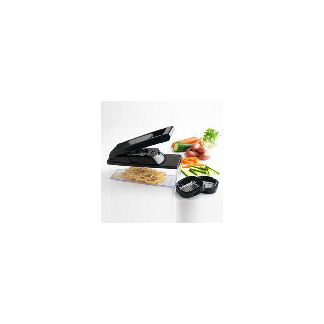 MASTRAD Coupe-légumes avec réservoir -3 grilles incluses - noir - F21600