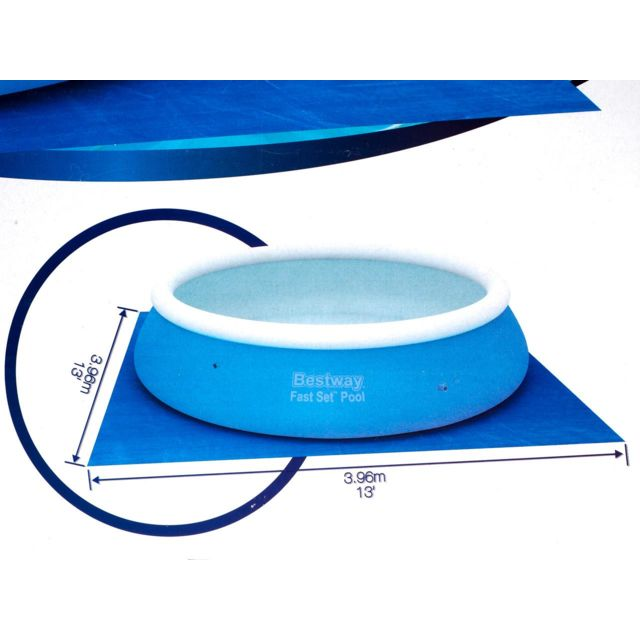 Best Way - Tapis de sol protection piscine Bestway Tapis de sol 3.96 3.96m Bleu 57133