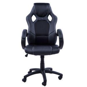 HOMCOM Chaise Bureau Luxe Pivotant Fauteuil Ordinateur Manager - Fauteuil ordinateur