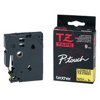 Brother - Cassette Tze-s211 extra solide - 6 mm - noir / blanc