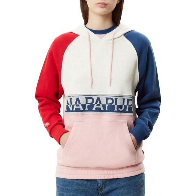 Napapijri - Sweat à capuche tricolore Belix