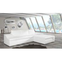 BestMobilier - Ontario - CanapÉ D Angle Convertible Droit - 290x90x195cm Couleur - Blanc