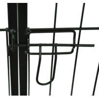 HOMCOM - Luxe parc enclos a chiens chiots rongeurs 8 panneaux cage solide noir 80x100