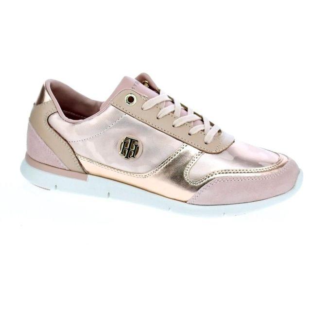 6f07b79d90a7 Tommy hilfiger - Chaussures Tommy Hilfiger Femme Baskets basses modele Camo  Metallic Light Sneaker