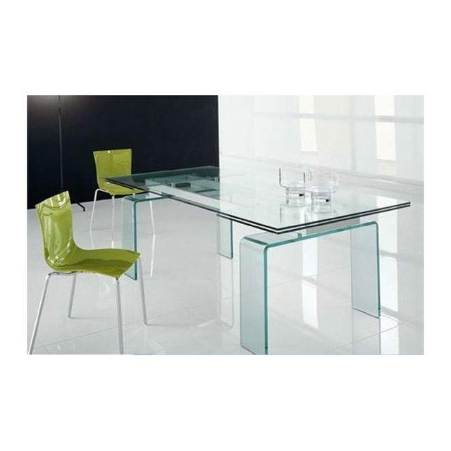 Cosy&TENDANCE Table salle à manger Verre Elegance 6 - 150/210 90 75 cm