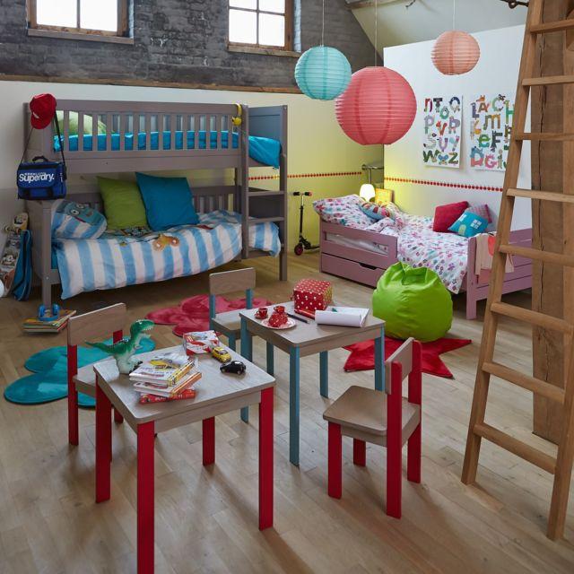 Alinea Acaya Table Et Chaise Rouges Pour Enfant En Acacia Pas Cher Achat Vente Bureau Et Table Enfant Rueducommerce