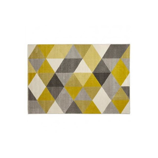 Techneb Tapis Design Style Scandinave Rectangulaire Geo 230cm X