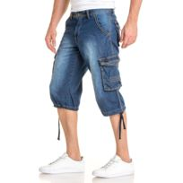 e29cc1f8ad Unitif - Kadin Indicode short en jeans noir fumé stretch - shorts ...