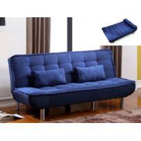 Canapé Clic Clac Mishan En Tissu Bleu