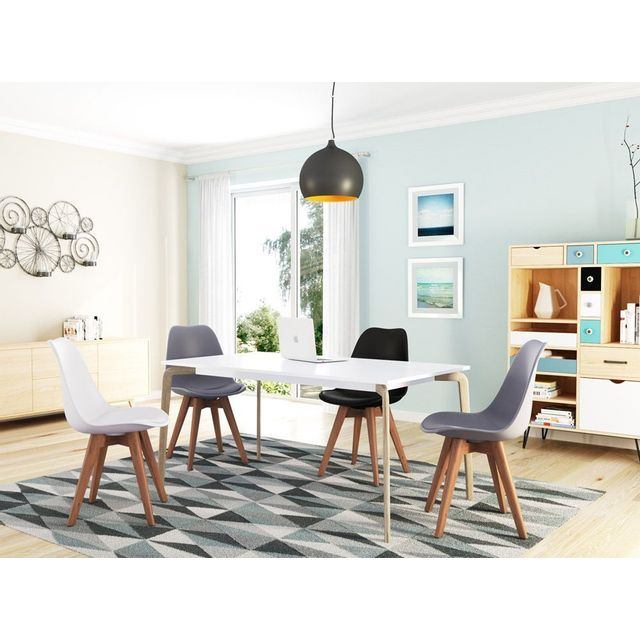 USINESTREET Lot de 2 chaises scandinaves ANDREA avec
