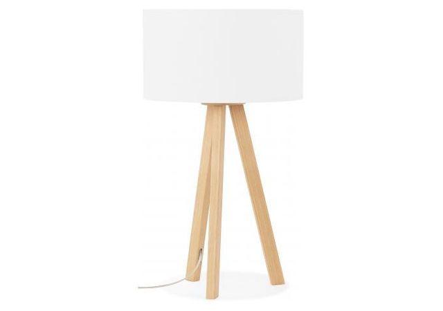Declikdeco - Lampe Scandinave Abat-Jour Blanc Tornby