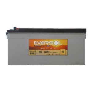 sellande batterie a decharge lente 12v 220ah agm eversol pas cher achat vente batteries. Black Bedroom Furniture Sets. Home Design Ideas