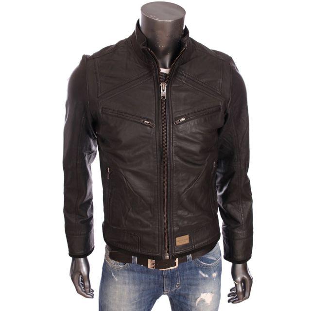 nouveaux styles 18f02 5c2b2 Kaporal 5 - Kaporal - Homme - Veste en cuir slim fit Nolf ...