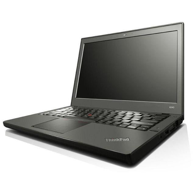 "LENOVO - ThinkPad X240 - Intel Core i5 4300U 1.9 Ghz - RAM 4 Go - HDD 500Go - Aucun lecteur - Ecran 12.4"" LED HD - 1366 x 768 pixels - Intel HD Graphics 4400 - Webcam - Windows 10 Professionnel 64 bits"