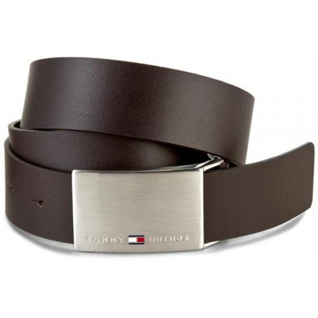 tommy hilfiger maroquinerie ceinture cuir r versible pas cher achat vente ceinture homme. Black Bedroom Furniture Sets. Home Design Ideas