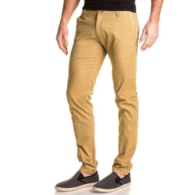 Cher Achat Jeans Blz Chino Vente Pantalon Pas Homme Beige 61HcqYZ4w