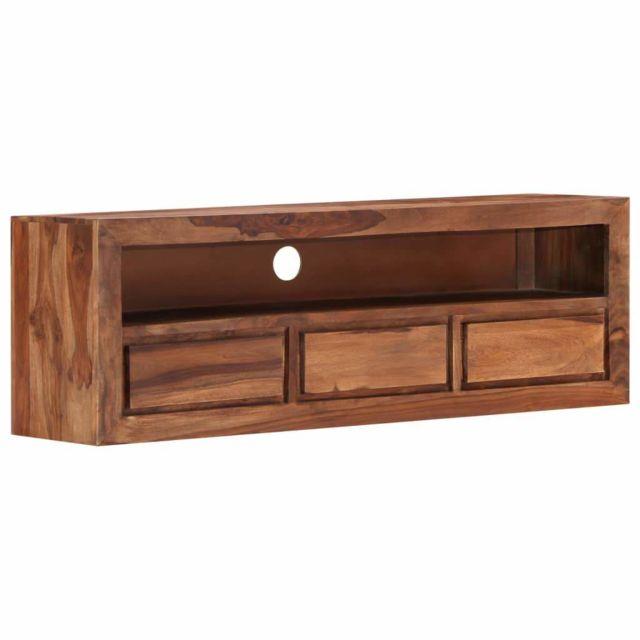 Helloshop26 Meuble télé buffet tv télévision design pratique 120 cm bois de sesham solide 2502062