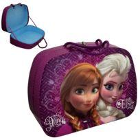 Ica - Grand valise en carton épais violette Frozen Taille 3