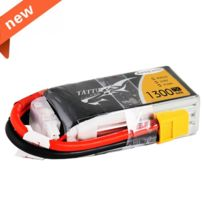 Tattu - 1300mAh 14.8V 75C 4S1P Lipo BatterySpecially Made for Victory Limited Edition