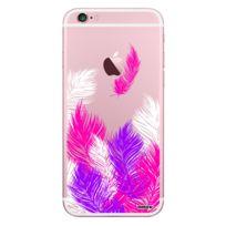 Evetane - Coque transparente Plumes Rose pour iPhone 6 Plus / 6S Plus