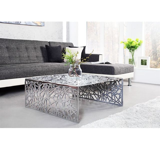 Chloe Design Table Basse Design Resum Argent Pas Cher Achat