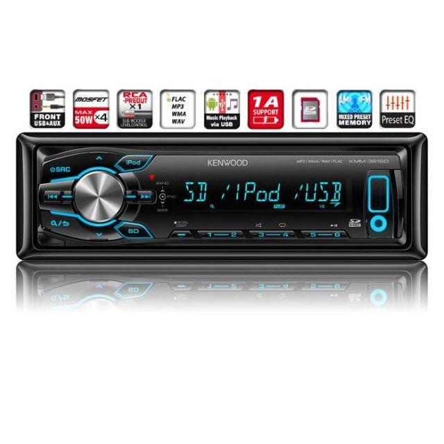 Kenwood Electronics KMM-361SD Autoradio USB SD Noir
