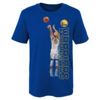 b72abb0843893 Nba - T-shirt Stephen Curry Golden State Warriors Pixel pour enfants Bleu  Taille -