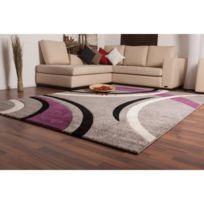 tapis salon violet - Achat tapis salon violet pas cher - Rue du Commerce