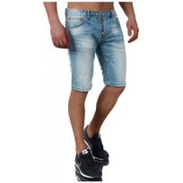 Selection Izi - Bermuda Jeans Homme 3641 Bleu