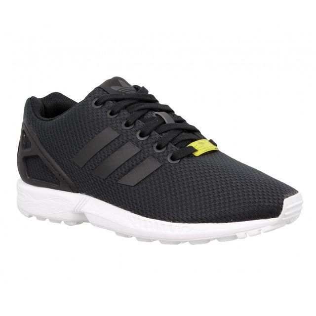 Adidas - Zx Flux toile Femme-38 2/3-Noir