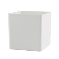 Artevasi - Cache-pot cube blanc design pour la décoration de jardin, 21 x 21 x 21 cm