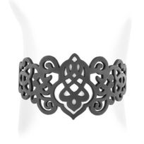 Lady Gum - Bracelet Femme Silicone Noir Arabesque 1242