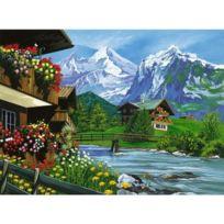 Oasis - Peinture au numéro Initiés : Au pied des Alpes