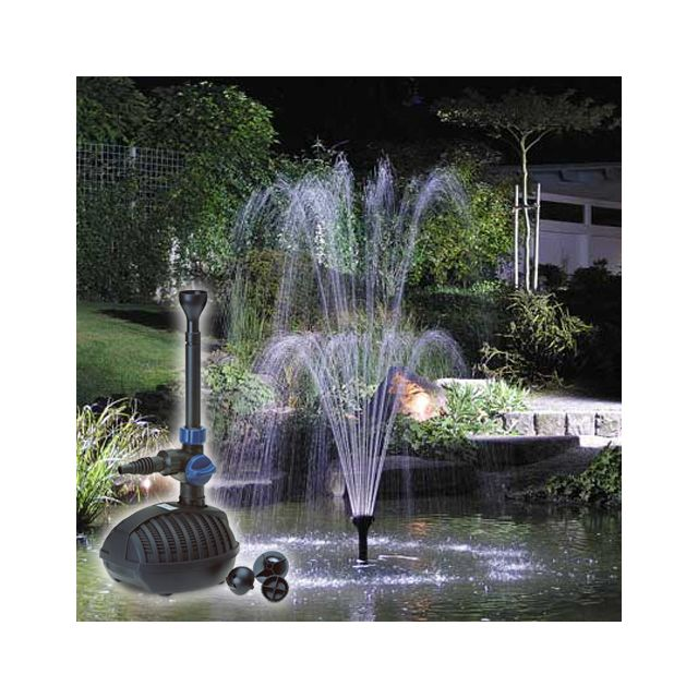Blumfeldt Lemuria Fontaine de jardin cascade /& pot de fleur pompe 30W câble 10m