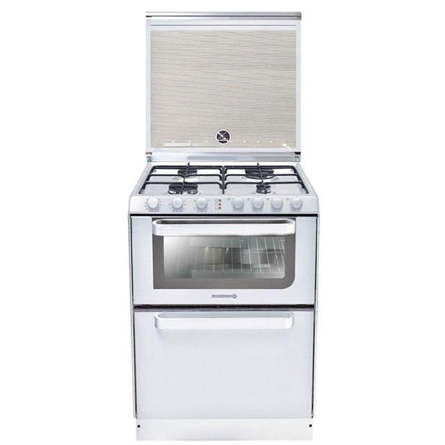 rosi res rosieres cuisiniere 4 foyers br leurs gaz blanc. Black Bedroom Furniture Sets. Home Design Ideas